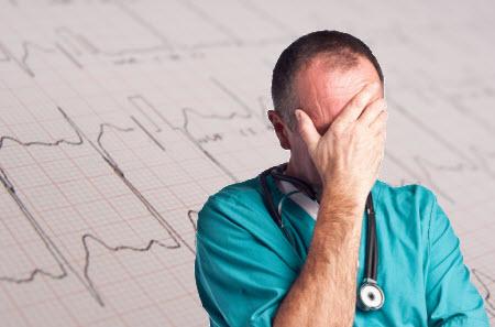 Stressed Doctor ECG