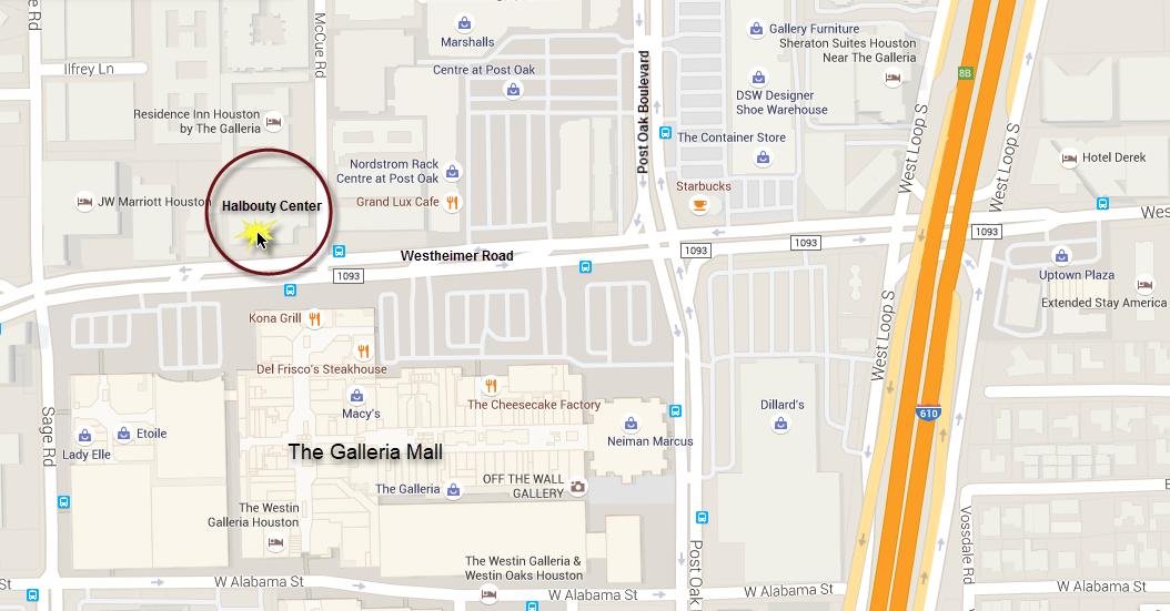 MapTo Halbouty Center - Houston, Texas